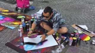 Spray painting, peinture a la bombe par Zoltan a Paris