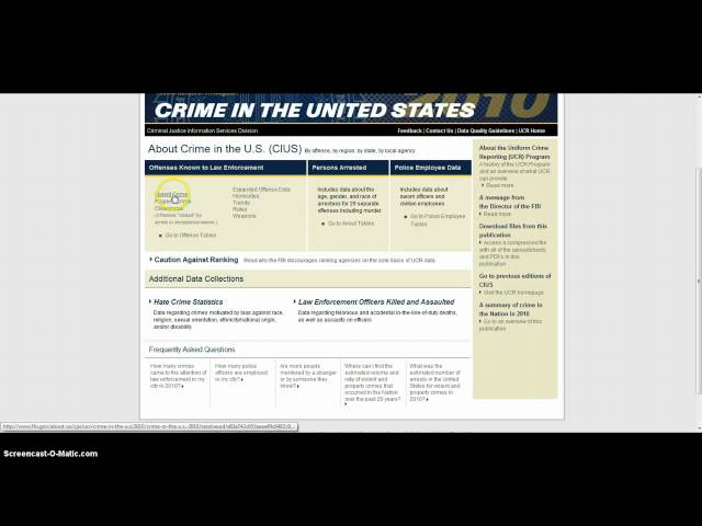 The Uniform Crime Report (UCR) Travel Video
