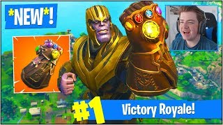 "*NEW* INFINITY GAUNTLET GAME MODE in Fortnite Battle Royale! (""THANOS"" SKIN GAMEPLAY)"
