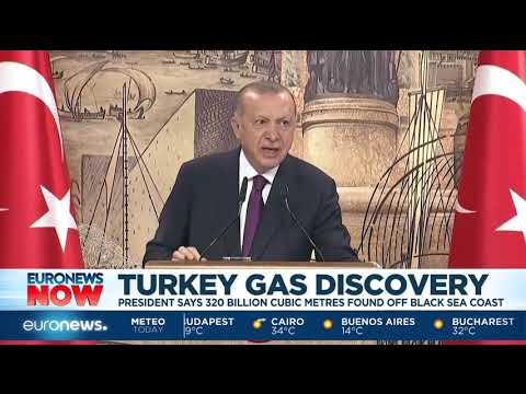 Turkey gas discovery: President says 320 billion cubic metres found off Black Sea coast