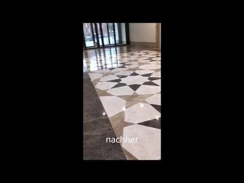 Einfache vorher - nachher Videos aus unserer täglichen Marmorafbereitung
