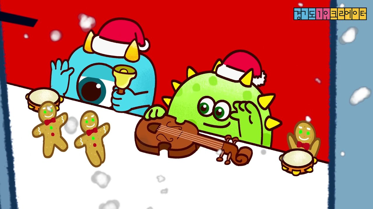 I wish you a Merry Christmas and Happy New year - Christmas Carol with Bongo cat Monsters!