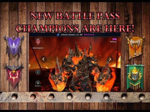RAID Shadow Legends | FIRST LOOK at all the new battle pass champions art, skills and multipliers!