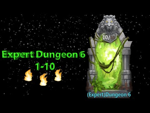 Castle Clash Expert Dungeon 6 (1-10)