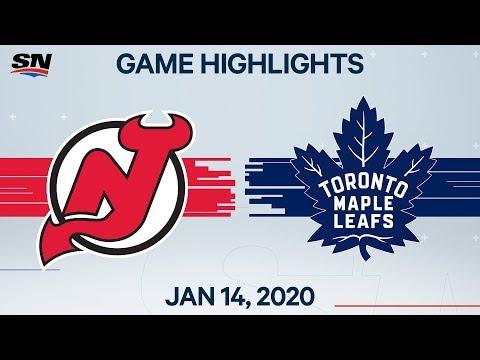 NHL Highlights | Devils vs Maple Leafs – Jan. 14, 2020