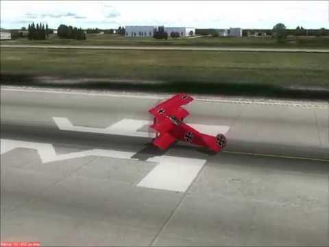 (FS2004) Red Baron (Fokker Dr. 1)