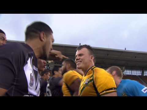 HAKA STANDOFF: Junior Kiwis v Junior Kangaroos