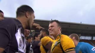HAKA STANDOFF: Junior Kiwis v Junior Kangaroos