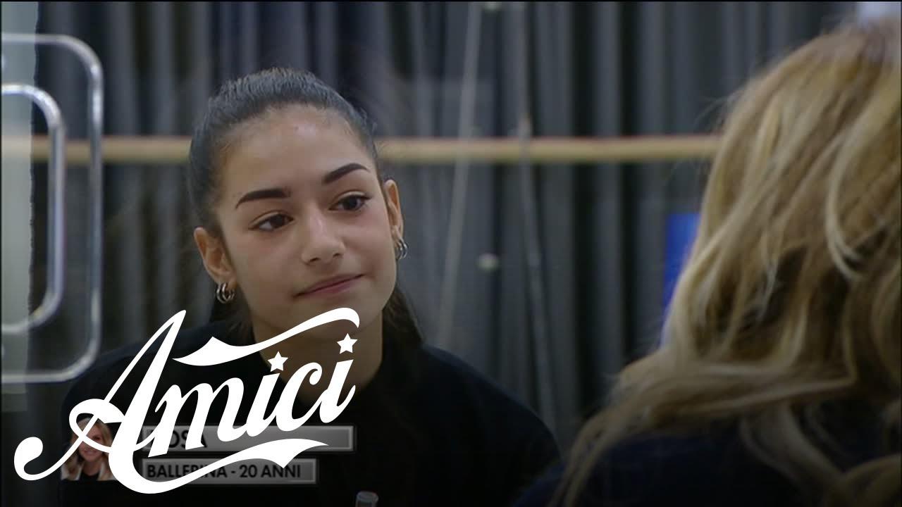 Amici 20 - Rosa si sfoga con Lorella Cuccarini