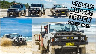 BUDGET 4WD CHALLENGE! $1000 ute takes on Fraser Island!