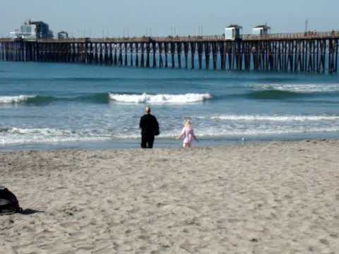 Oceanside California - A Look at Oceanside Beach South of the Pier