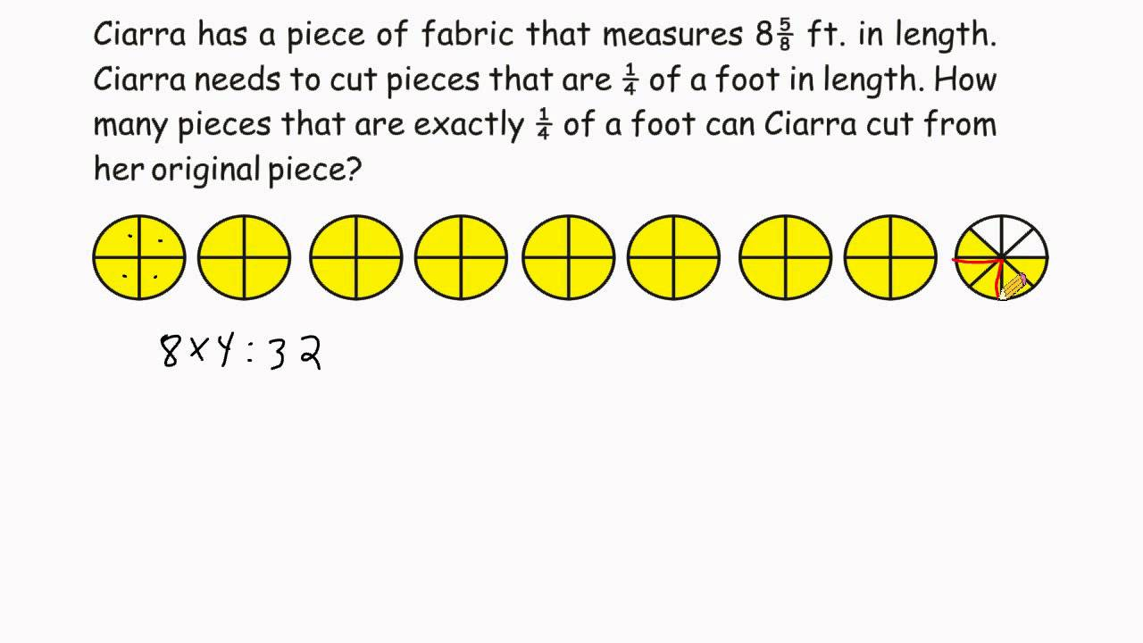 Problem Solving - Fraction Division - Word Problem