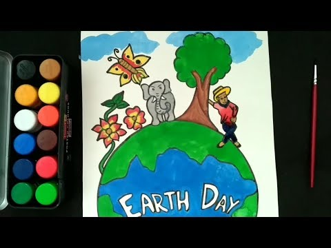 Environment Drawing Save Earth Poster