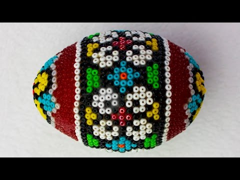 DIY Egg Art Tutorial - Beaded Eggs - How to Apply Seed Beads on an Egg