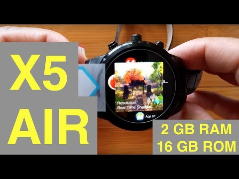 FINOW X5 Air Android 5.1 2GBRAM/16GBROM Smartwatch: Unboxing & 1st Look