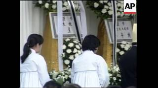 Funeral of Hyundai chief who committed suicide