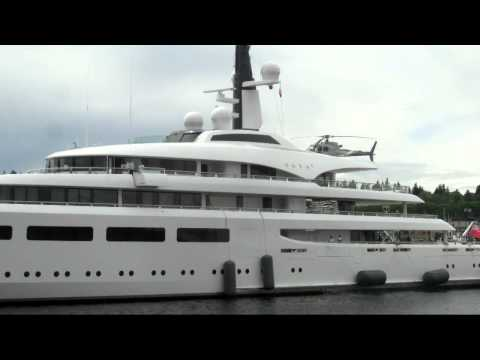 Salty Dog Boating News, M/Y VAVA, 96 meter Superyacht Arrived in Seattle