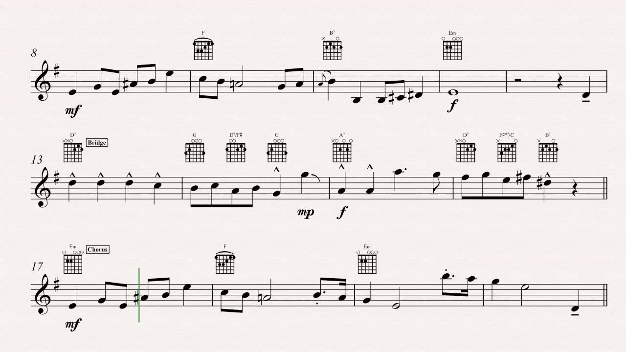 guitar the munsters theme song sheet music chords vocals youtube. Black Bedroom Furniture Sets. Home Design Ideas