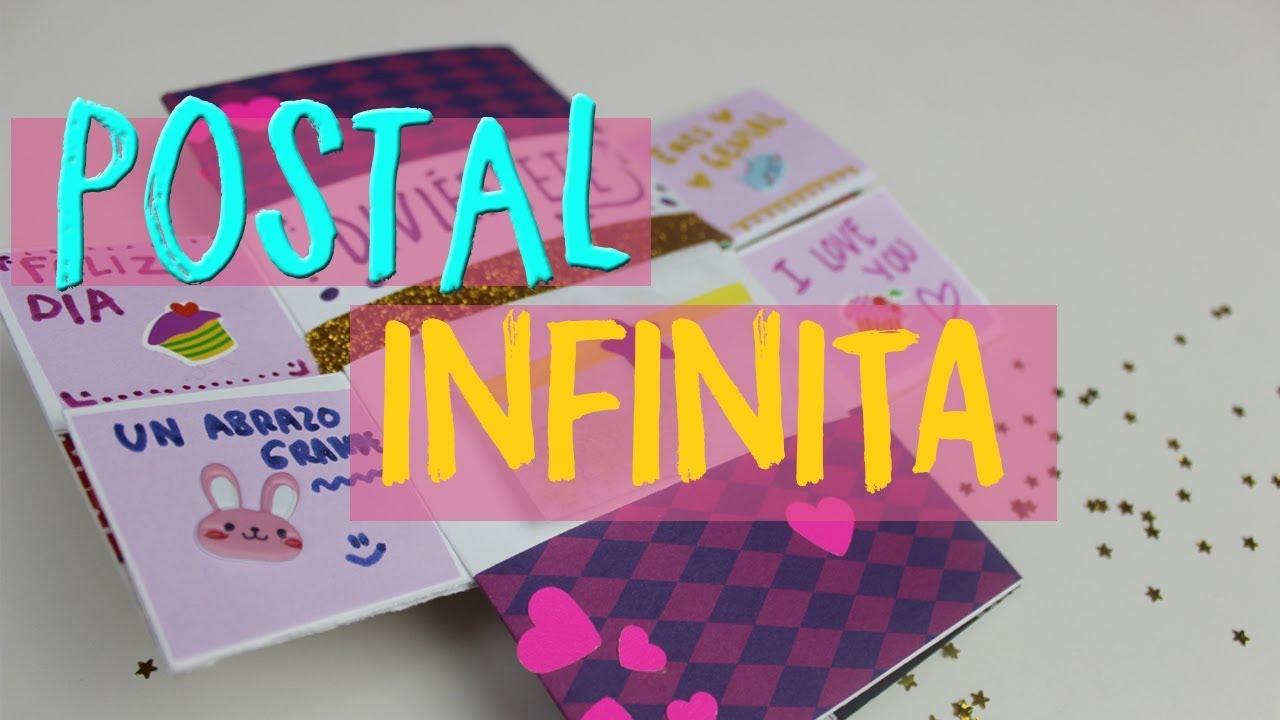C mo hacer una tarjeta infinita carta m gica - Como hacer tarjetas navidenas originales ...