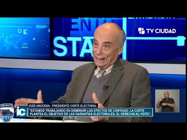 Informe Capital | Entrevista a José Arocena, presidente de la Corte Electoral.