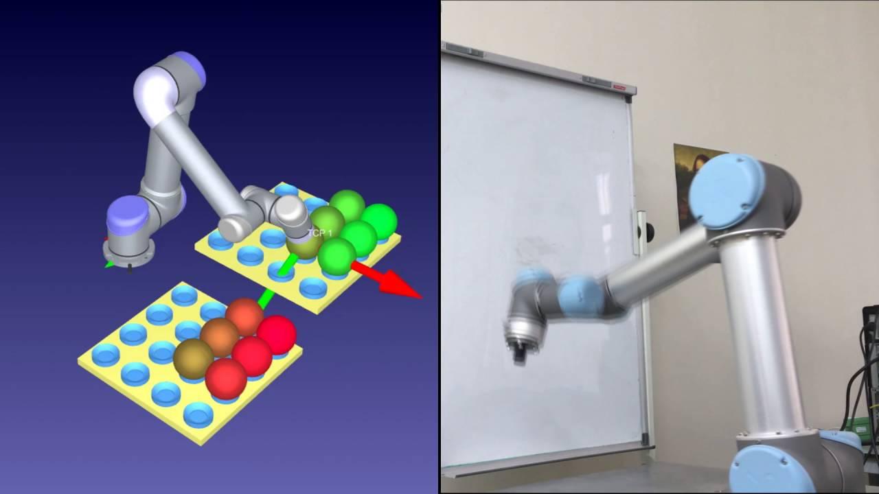 UR5 Robot Motion programmed using RoboDK toolkit