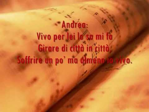 Vivo Per Lei Lyrics - Andrea Bocelli ft. Heather Headley