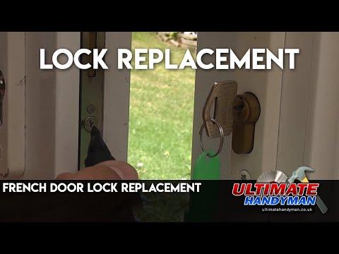 French door lock replacement