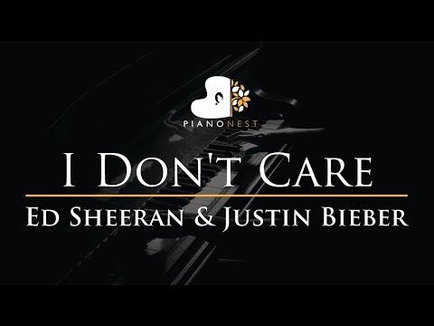 ed-sheeran-&-justin-bieber---i-don't-care---piano-karaoke-/-sing-along-cover-with-lyrics