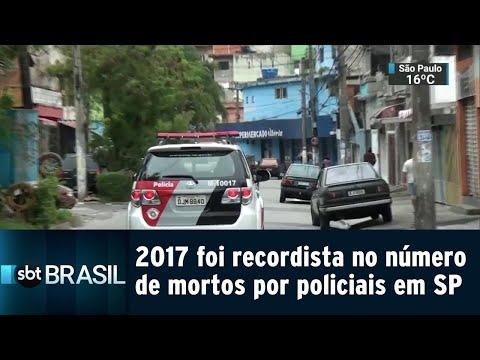 2017 foi recordista no número de mortos por policiais em SP | SBT Brasil (14/08/18)