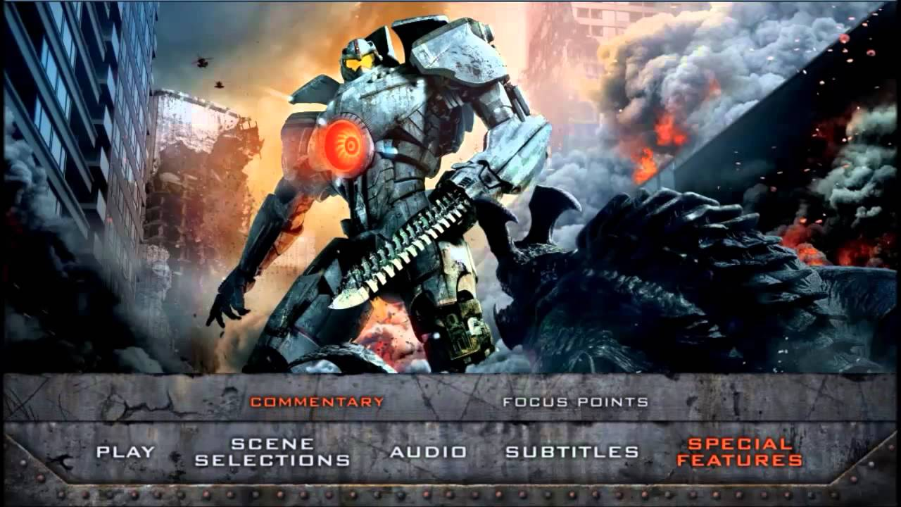 Pacific Rim 2013 Blu ray Menu Preview YouTube