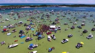 Exploring Florida: Crab Island in Destin July 4, 2016 Aerial Drone