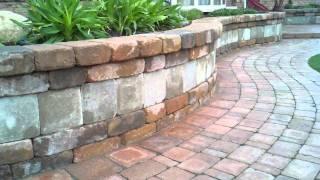 Brick Paver Sidewalk, Seating Wall, & Patio