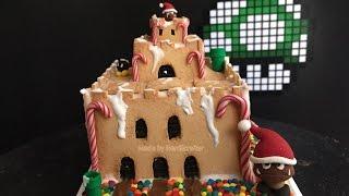 Epic Diy Super Mario Castle Gingerbread House Polymer Clay Tutorial / Arcilla Polimérica