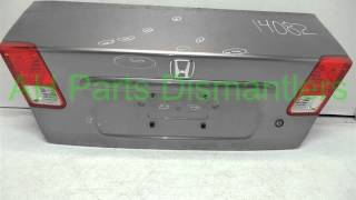 2005 Honda CIVIC DECK LID/REAR TRUNK gray complete - ahparts.com Used Honda, Acura, Lexus & T... OEM