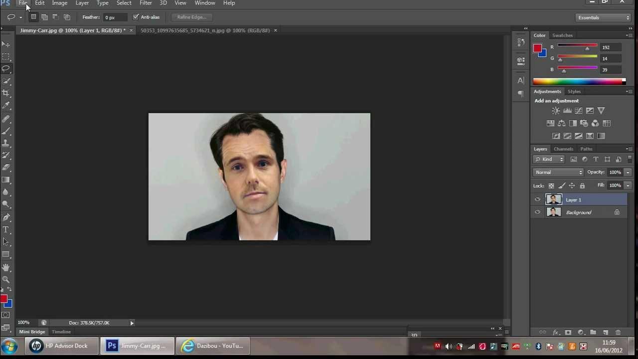 Photoshop head swap tutorial.