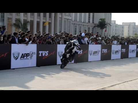 TVS Apache Bike Stunt