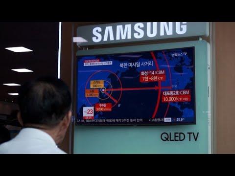 South Koreans react to news on N.Korea missile test