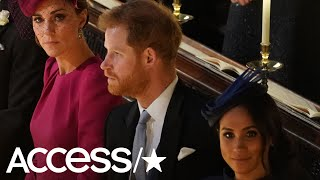 The Secret Meaning Behind Meghan Markle & Kate Middleton's Looks At Princess Eugenie's Wedding