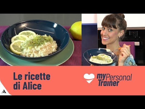Risotto integrale light al limone e alga spirulina