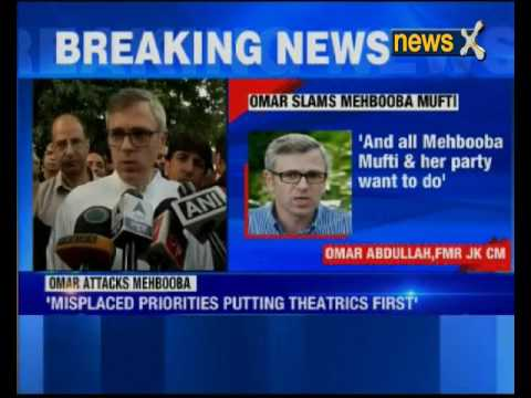 Omar Abdullah hits out at Jammu and Kashmir CM Mehbooba Mufti