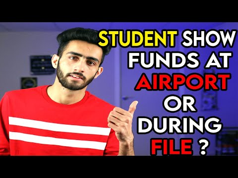 Funds For Canada Study Visa - Funds At Airport OR During File Show OR No ?