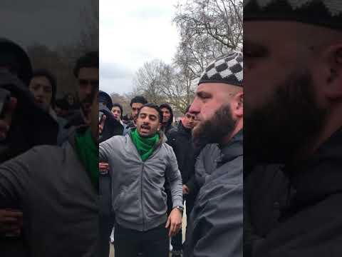 ABDUL HAMID vs SHIA BLADE RUNNER HEATED DEBATE - speakers corner 18/3/2018