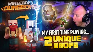 *NEW* MINECRAFT DUNGEONS IS AMAZING! I GOT 2 UNIQUE ITEMS MY FIRST TIME PLAYING!