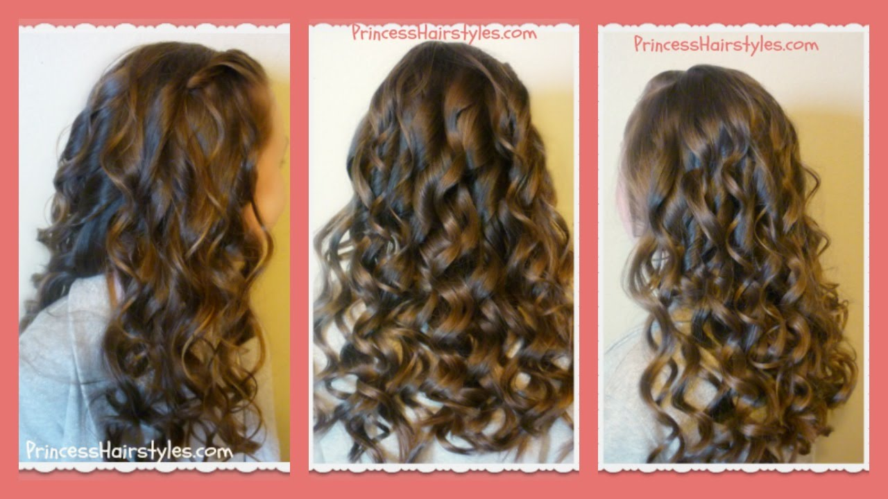 How To Create Beautiful Curling Wand Curls Youtube