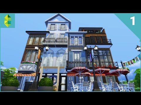 The Sims 4 House Building - The Promenade (Part 1/2)