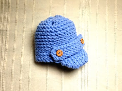 How to Loom Knit a Baby Visor Hat (DIY Tutorial)