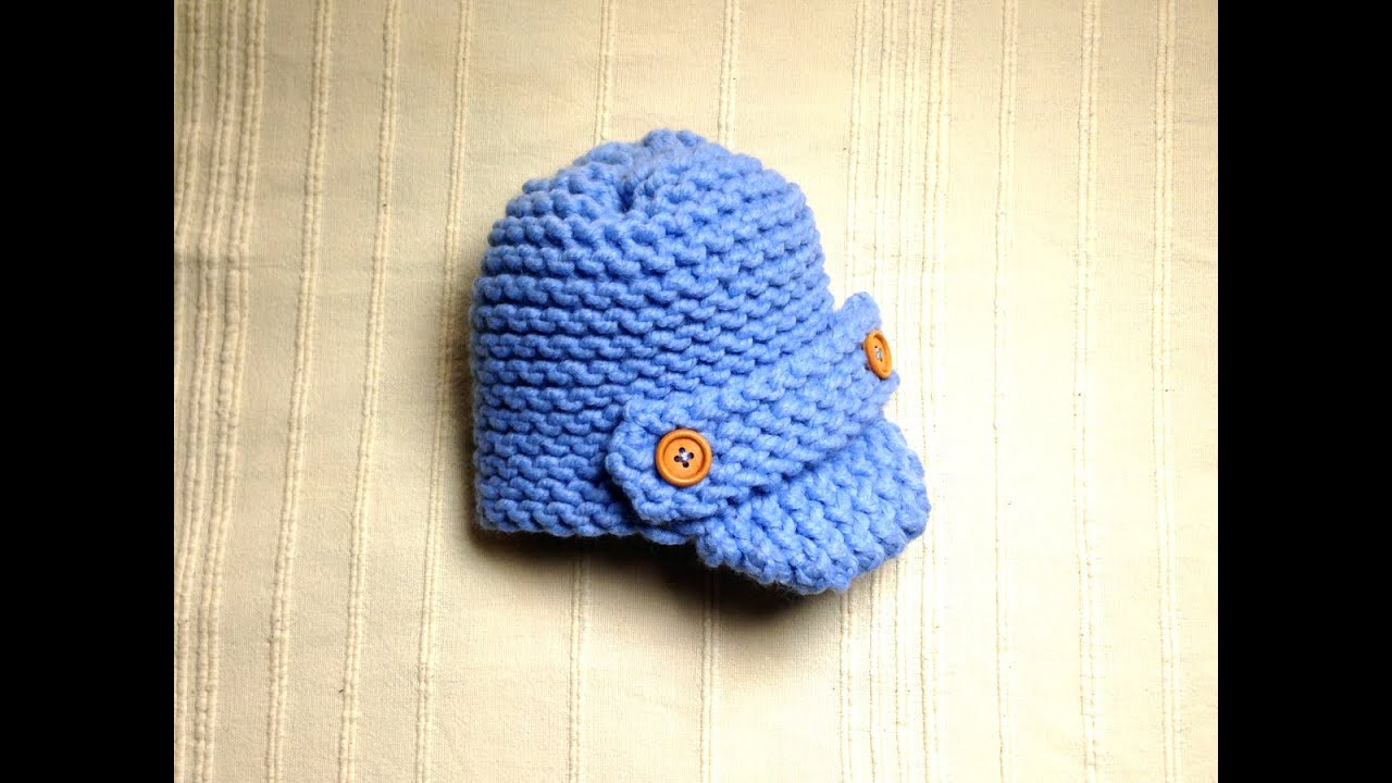 Loom Knitting Baby Hat : How to loom knit a baby visor hat diy tutorial youtube
