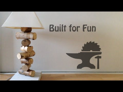 built for fun 09 lampe chevet rustique en rondin de bois youtube. Black Bedroom Furniture Sets. Home Design Ideas