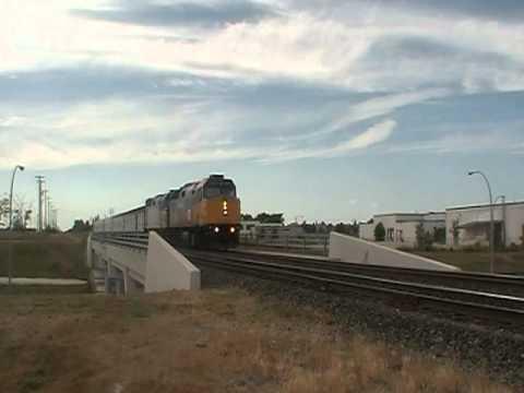 "VIA rail ""The Hudson Bay""southbound Winnipeg Manitoba"