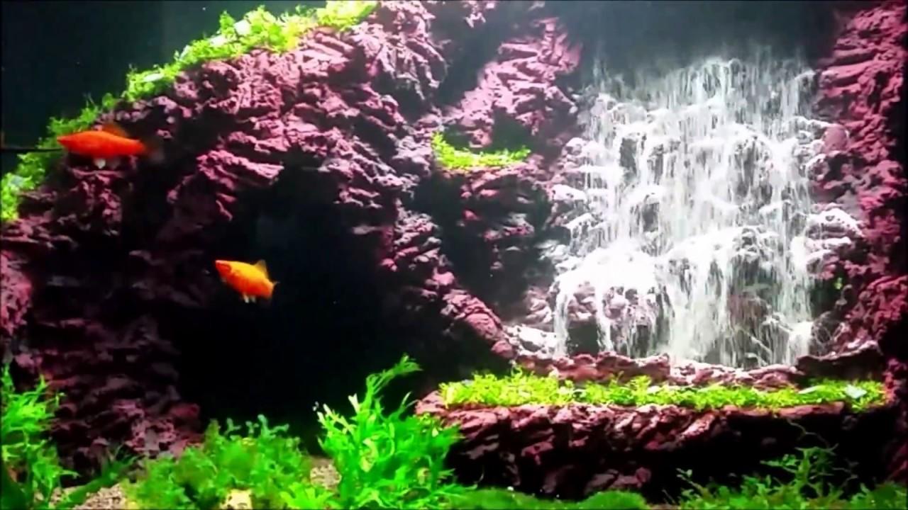 aquarium sand waterfall 40 youtube. Black Bedroom Furniture Sets. Home Design Ideas